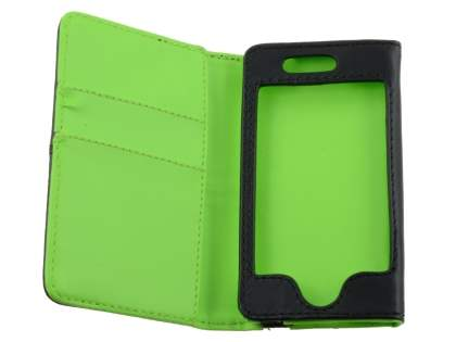 Wallet Case for iPod Touch 4 - Black/Green