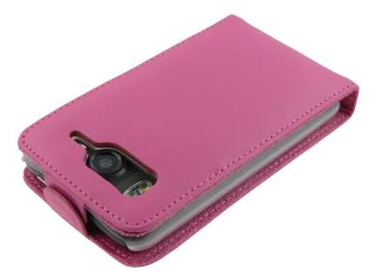 Genuine Leather Flip Case for HTC Desire HD - Pink