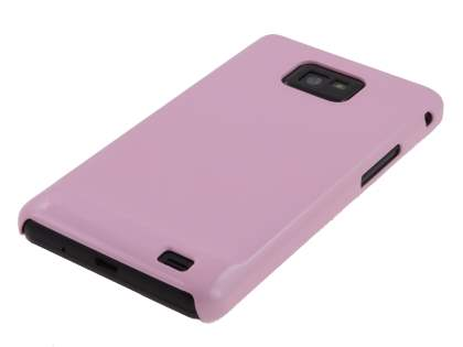 Samsung I9100 Galaxy S2 Slim Glossy Case plus Screen Protector - Baby Pink