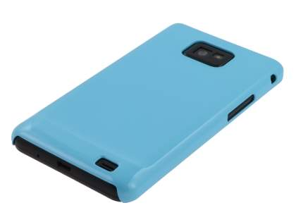 Samsung I9100 Galaxy S2 Slim Glossy Case plus Screen Protector - Sky Blue