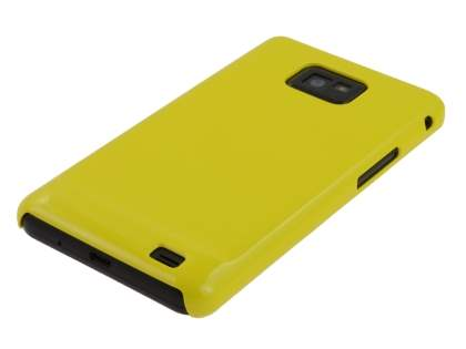 Samsung I9100 Galaxy S2 Slim Glossy Case plus Screen Protector - Yellow