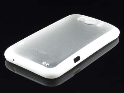 COCASES Dual-Design Case plus Screen Protector for HTC Sensation XL - White/Frosted Clear