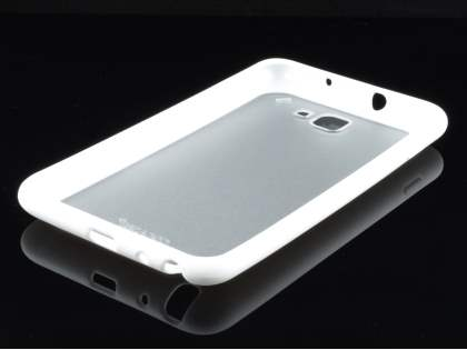 COCASES Dual-Design Case plus Screen Protector for Samsung I9220 Galaxy Note - White/Frosted Clear