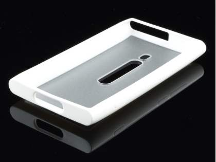 Nokia Lumia 800 Dual-Design Case - White/Frosted Clear