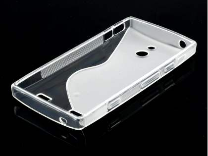Sony Xperia P LT22i Wave Case - Frosted Clear/Clear