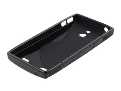 Sony Xperia P LT22i Wave Case - Frosted Black/Black