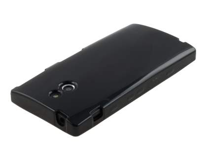 Sony Xperia P LT22i Frosted Colour TPU Gel Case - Black