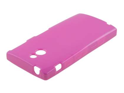 Sony Xperia P LT22i Frosted Colour TPU Gel Case - Pink