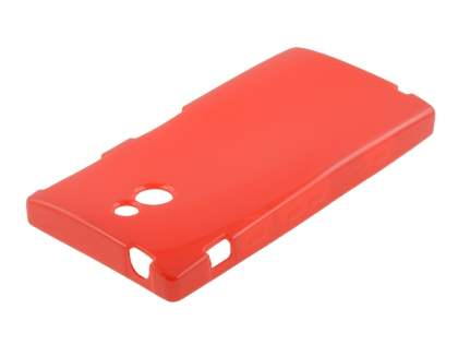 Sony Xperia P LT22i Frosted Colour TPU Gel Case - Red