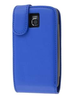 LG Optimus One P500 Synthetic Leather Flip Case - Blue