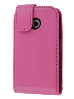 Synthetic Leather Flip Case for LG P690 Optimus Spirit - Pink Leather Flip Case