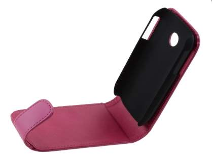 LG P690 Optimus Spirit Synthetic Leather Flip Case - Pink