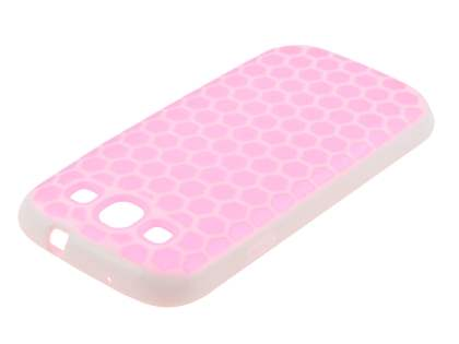 Samsung I9300 Galaxy S3 Dual-Design Case - White/Pink