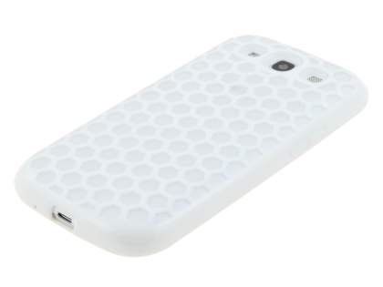 Samsung I9300 Galaxy S3 Dual-Design Case - White