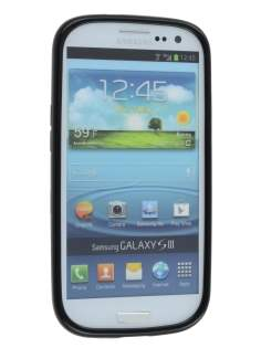 Samsung I9300 Galaxy S3 Dual-Design Case - Black/Frosted Clear
