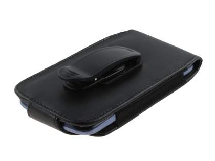 Samsung Galaxy S3/S4 Synthetic Leather Belt Pouch (Naked Phone Only) - Classic Black