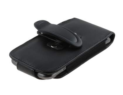 Samsung I9250 Google Galaxy Nexus Synthetic Leather Belt Pouch (Naked Phone Only) - Classic Black
