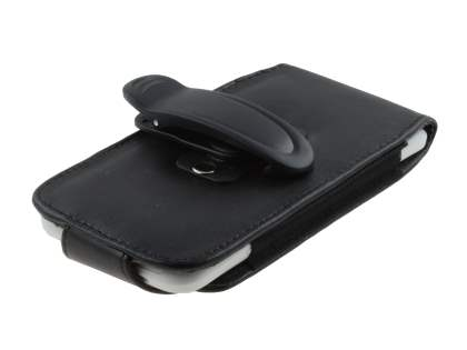 HTC One X / XL / X+ Synthetic Leather Belt Pouch (Naked Phone Only) - Classic Black