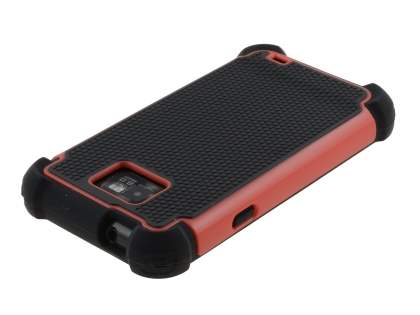 Samsung I9100 Galaxy S2 Impact Case - Red/Classic Black