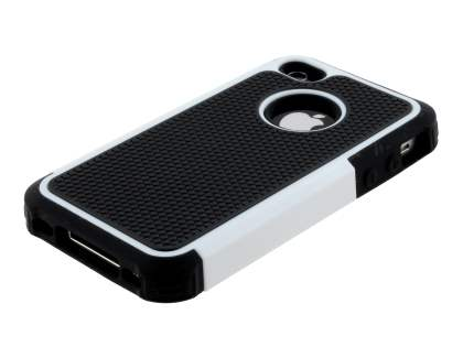 iPhone 4S/4 Impact Case - White/Classic Black