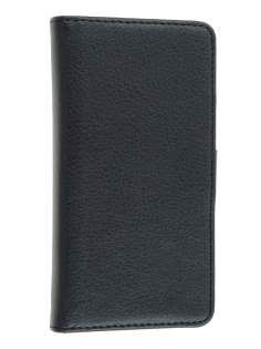 Sony Xperia P LT22i Slim Synthetic Leather Wallet Case with Stand - Classic Black