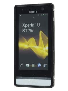 Sony Xperia U ST25i Wave Case - Black/Frosted Black