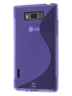 Wave Case for LG Optimus L7 P700 - Frosted Purple/Purple Soft Cover