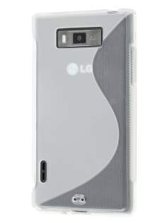 Wave Case for LG Optimus L7 P700 - Frosted Clear/Clear Soft Cover