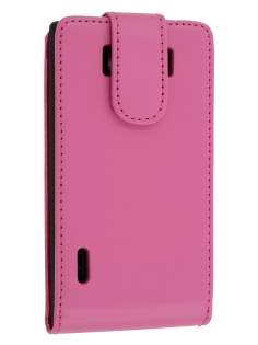 Synthetic Leather Flip Case for LG Optimus L7 P700 - Pink Leather Flip Case