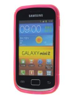 Samsung Galaxy mini 2 S6500 Wave Case - Frosted Pink/Pink