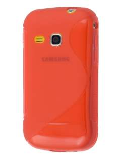 Wave Case for Samsung Galaxy mini 2 S6500 - Frosted Red/Red Soft Cover
