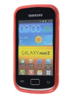 Samsung Galaxy mini 2 S6500 Wave Case - Frosted Red/Red
