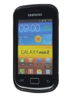 Wave Case for Samsung Galaxy mini 2 S6500 - Frosted Black/Black