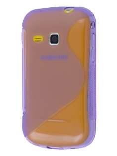 Wave Case for Samsung Galaxy mini 2 S6500 - Frosted Purple/Purple Soft Cover