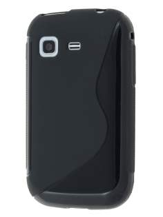 Samsung Galaxy Pocket S5300 Wave Case - Frosted Black/Black Soft Cover