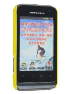 Vollter Motorola Defy Mini XT320 Ultra Slim Case plus Screen Protector - Canary Yellow