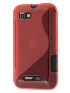 Motorola Defy Mini XT320 Wave Case - Frosted Red/Red