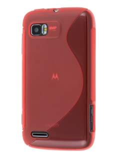 Wave Case for Motorola ATRIX 2 MB865 - Frosted Red/Red Soft Cover