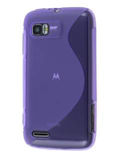 Wave Case for Motorola ATRIX 2 MB865 - Frosted Purple/Purple Soft Cover