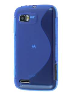 Wave Case for Motorola ATRIX 2 MB865 - Frosted Blue/Blue Soft Cover