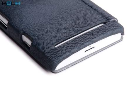 ROCK BigCity Book-Style Synthetic Leather Flip Case for Sony Xperia S LT26i - Night Blue