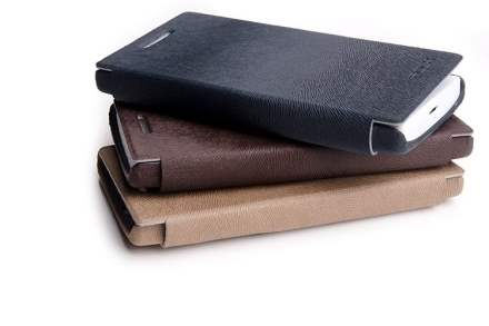 ROCK BigCity Book-Style Synthetic Leather Flip Case for Sony Xperia S LT26i - Dark Brown