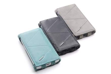 ROCK BigCity Slim Genuine Leather Flip Case for Sony Xperia S LT26i - Grey