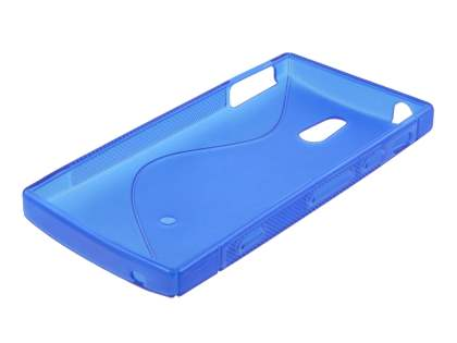 Sony Xperia P LT22i Wave Case - Frosted Blue/Blue