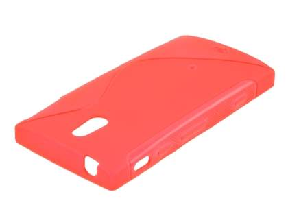 Sony Xperia P LT22i Wave Case - Frosted Red/Red