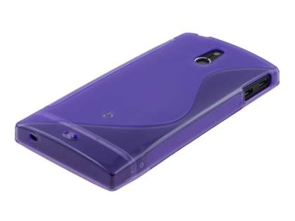 Wave Case for Sony Xperia P LT22i - Frosted Purple/Purple