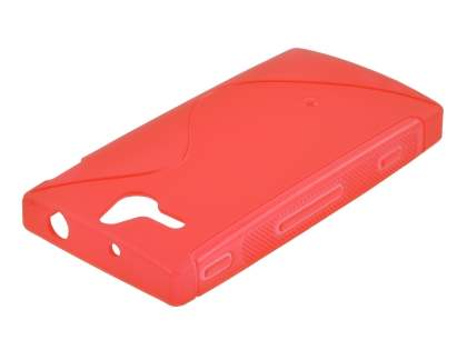 Sony Xperia U ST25i Wave Case - Frosted Red/Red
