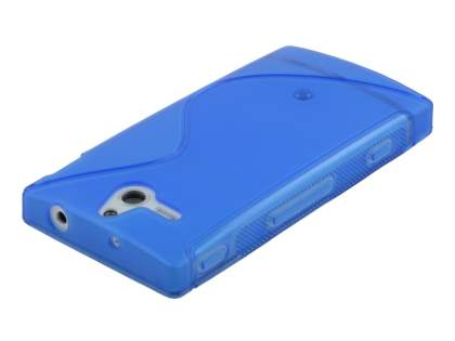 Sony Xperia U ST25i Wave Case - Frosted Blue/Blue