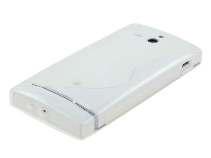 Sony Xperia U ST25i Wave Case - Frosted Clear/Clear