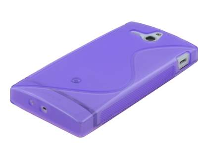 Sony Xperia U ST25i Wave Case - Frosted Purple/Purple